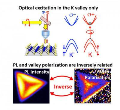 WS2 optical excitation and PL intensity map (NRL)